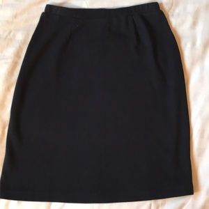 Jones New York dark blue cotton knit pullon skirt